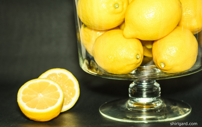 Lemons in Trifle Bowl