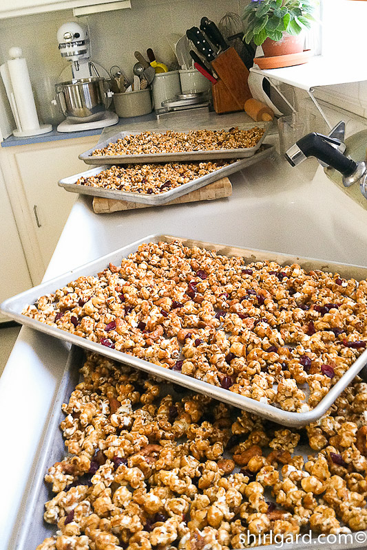 Caramel Popcorn with Cashews & Cranberries